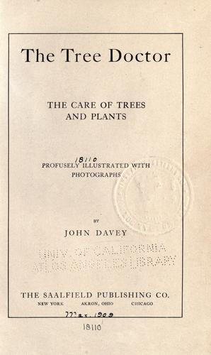 """Книга """"The tree doctor"""""""